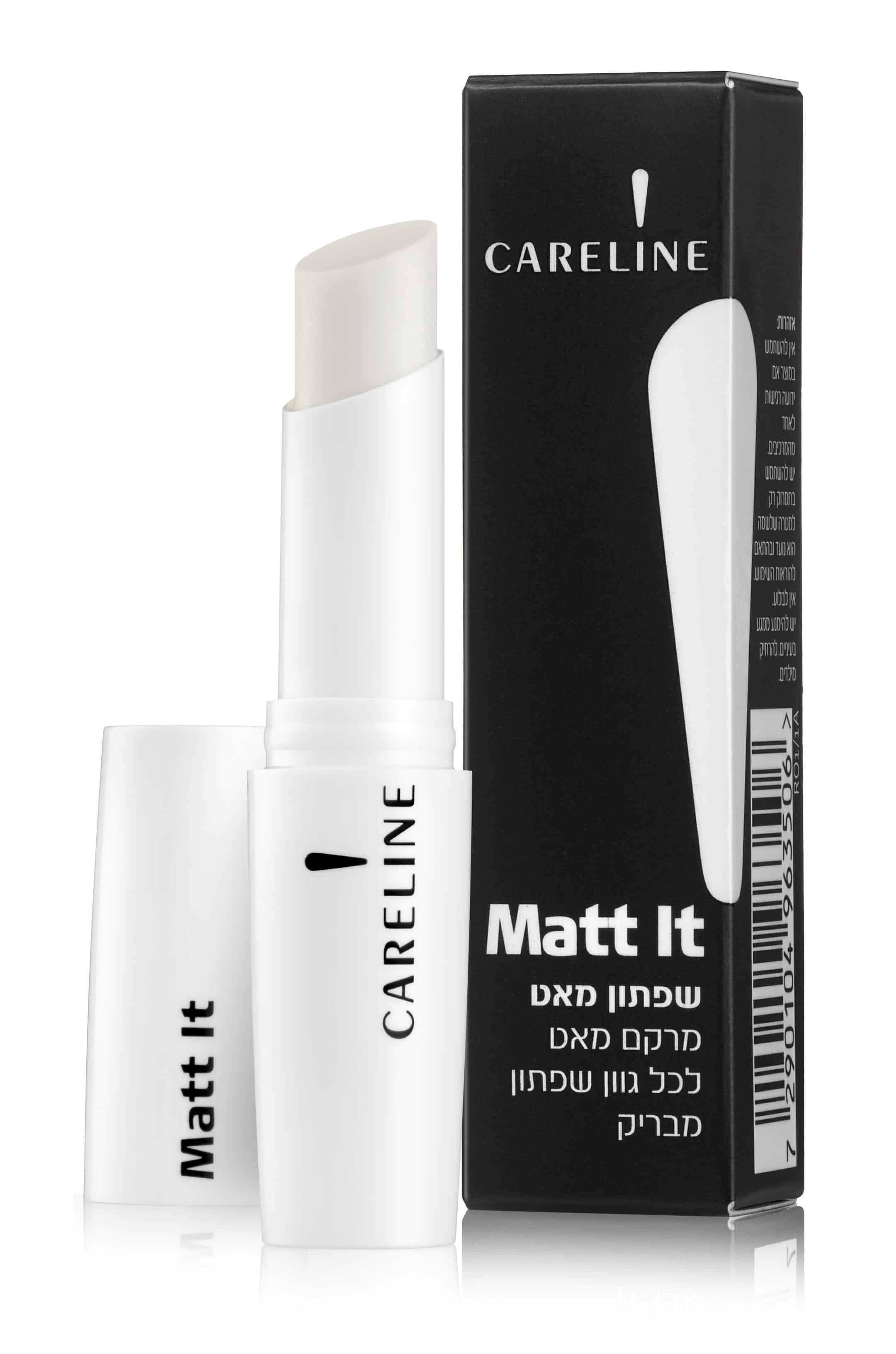 MATT IT שפתון מבית קרליין שקוף המעניק מרקם מאט לכל גוון שפתון מבריק מחיר 74.90 שח צילום מוטי פישביין (2)