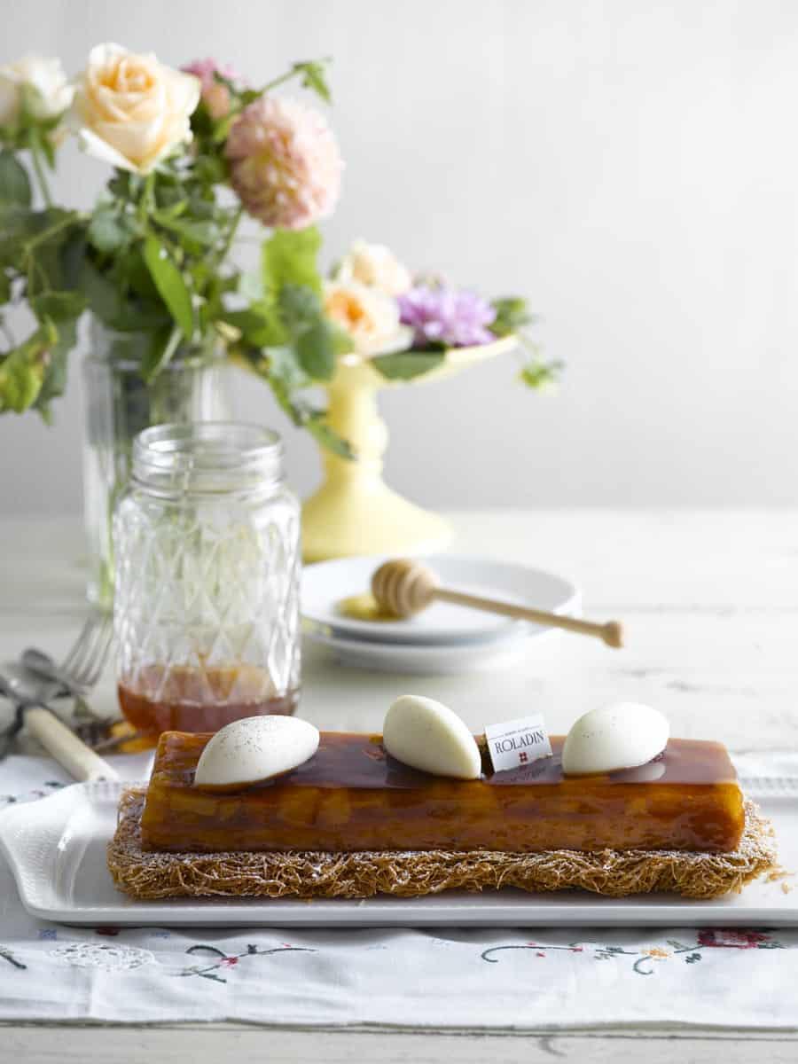 רולדין עוגת קדאיף תפוחים בדבש צילום רונן מנגן